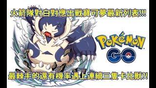 【Pokémon GO】火箭隊對白對應出戰寶可夢最新列表!!!(最棘手的還有機率遇上連續三隻卡比獸?!)