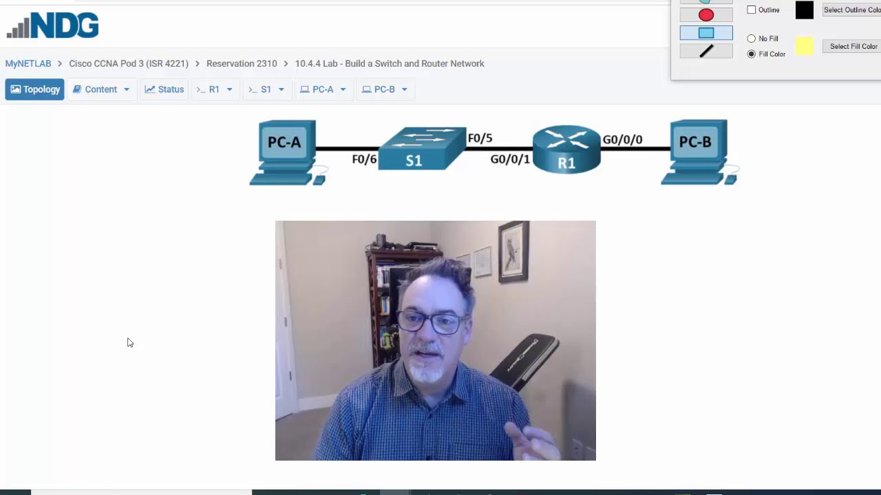 Download 18. CCNA Ch10 - Router, Switch, and PCs Network - Part1