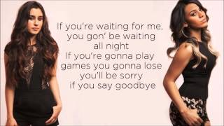 Fifth Harmony - Going Nowhere (Lyrics) (Studio Version)
