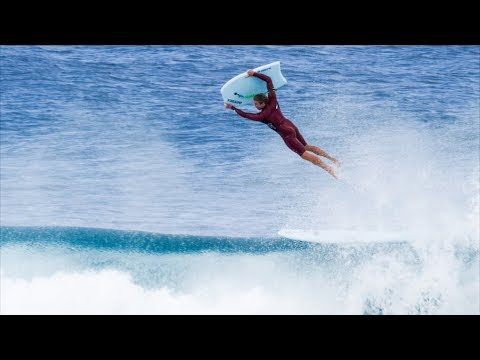 Jamie O'Brien went bodyboarding at Pipe with Jeff Hubbard