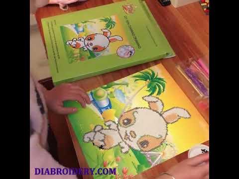 High Quality Plastic Diamond Painting Diy Cartoon Sticker Craft Educational Toy Of Bear For Kids