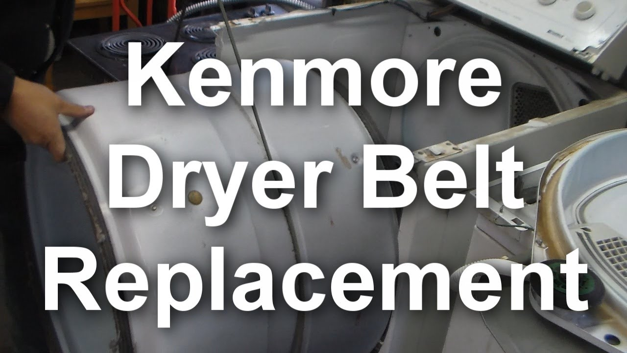 maxresdefault how to replace the belt on a kenmore 90 series dryer youtube  at readyjetset.co