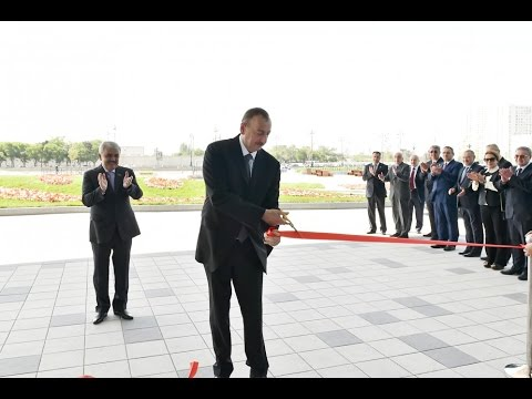 Prezident İlham Əliyev SOCAR-ın yeni inzibati binasının açılışında iştirak edib