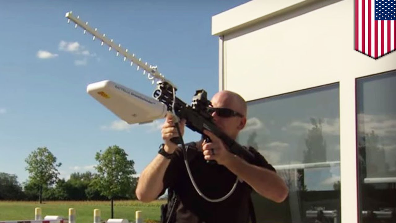 Bringing Drones Down New DroneDefender Rifle Uses Radio Waves To Disable UAVs