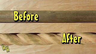 كيفية نحت الخشب حبل | تخطيط دوامة أو تحريف على الخشب | حبل الملتوية صب التفاصيل