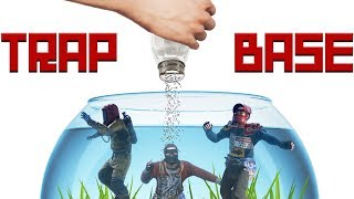 Forcing a SALTY CLAN to be My Pet Goldfish - RUST TRAP BASE
