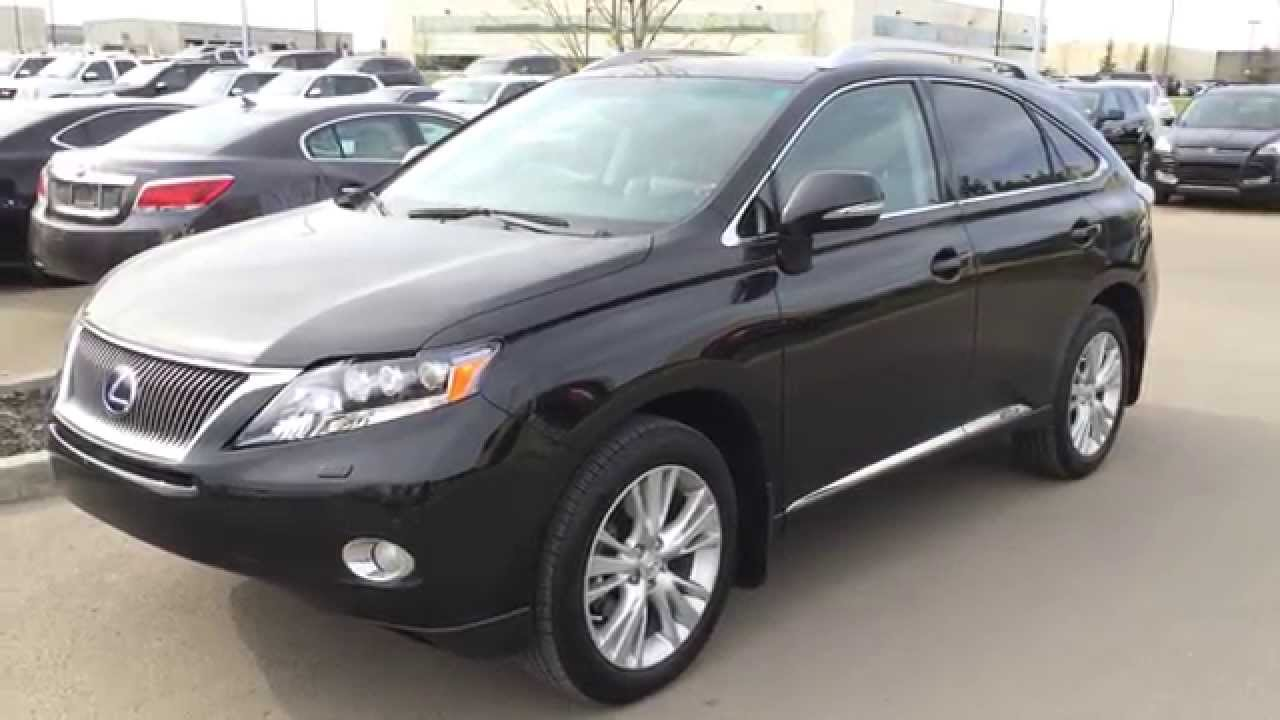 Lexus certified pre owned black 2012 rx 450h awd hybrid review southside edmonton youtube