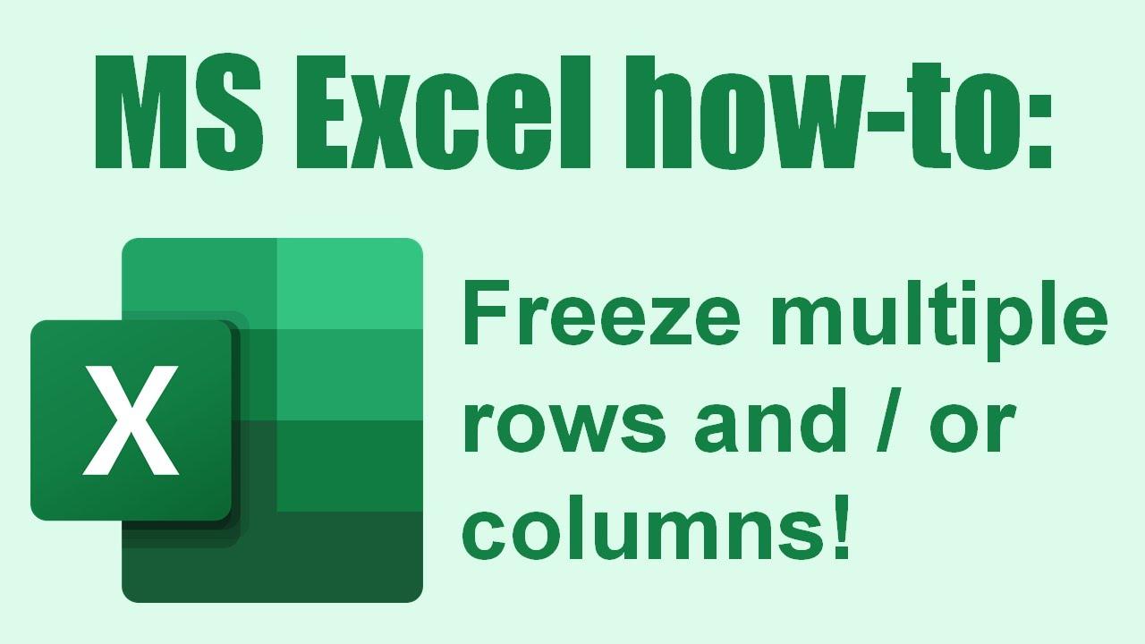 excel 2016 freeze multiple columns