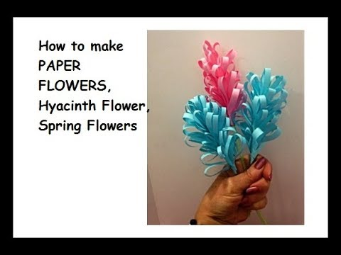 How to make EASY PAPER FLOWERS,  Quick Hyacinth Flower, Fast Spring Flowers, Mother's day flowers