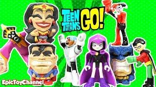 Teen Titans Go! Toys & Justice League Movie Wonder Woman Capture Harley Quinn & Joker Toys for Kids