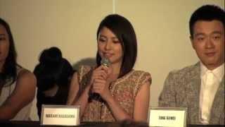 長澤まさみさんは日本語、ジョン・ウー監督は英語、金城武さんは中国語...