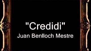 Credidi - Juan Benlloch Mestre