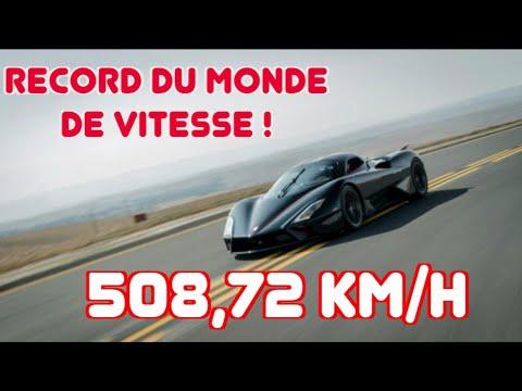 La SSC Tuatara devient la voiture de série la plus rapide au monde ! (508,72 km/h)