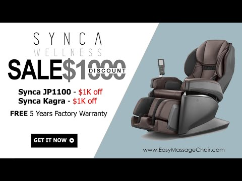 Synca JP1100 And Kagra Massage Chairs Sale - Get Up To $2000 Discount!