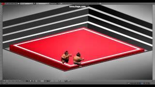 Blender 3D Mini-Game Sumo-Fight