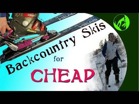 Turn Your Downhill Skis Into Backcountry Skis For Cheap