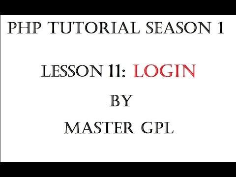 PHP TUTORIAL TAGALOG - LESSON 11 LOGIN