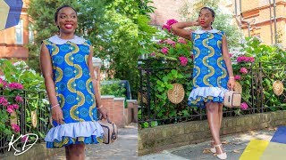 A-LINE DRESS WITH COLLAR SEWING TUTORIAL | KIM DAVE