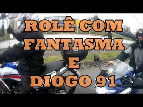 ROLÊ COM FANTASMA MOTOCICLISTA E DIOGO 91 - Tramps Motovlog