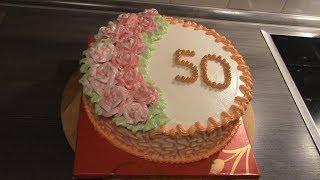 Торт на 50-летие для женщины