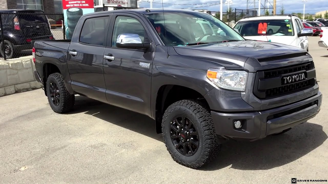 2016 Toyota Tundra Crew Max Platinum With Trd Pro Grill And Wheels You