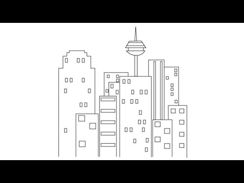 How To Draw A City Easy Step By Step Drawing Lessons For Kids