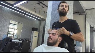 TURKISH BARBER FACE MASSAGE•HEAD MASSAGE•BACK MASSAGE ~ ASMR MASSAGE 324