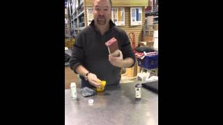 How to stain with saman