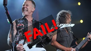 Metallica live epic fail Birmingham power outage!
