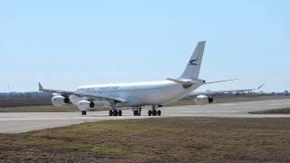 Primer vuelo regular Córdoba - Miami de Aerolíneas Argentinas - Airbus A340-300 LV-CEK