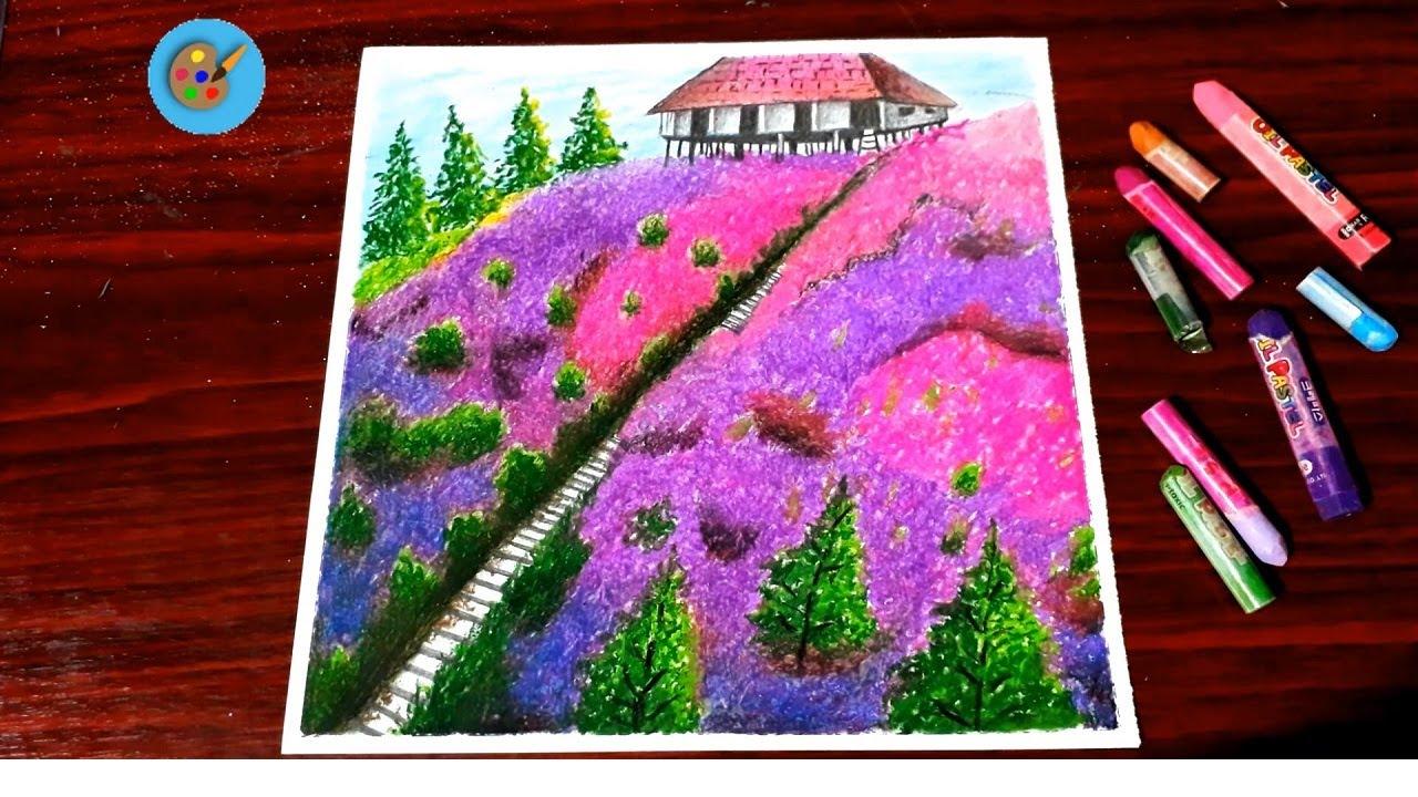 Vẽ tranh phong cảnh quê hương bằng sáp dầu - Hungart