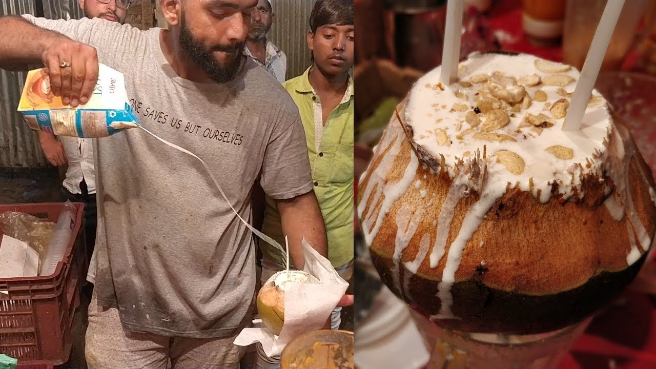 COCONUT SHAKE MASTER | Amazing Milk Pouring Skills | Indian Street Food