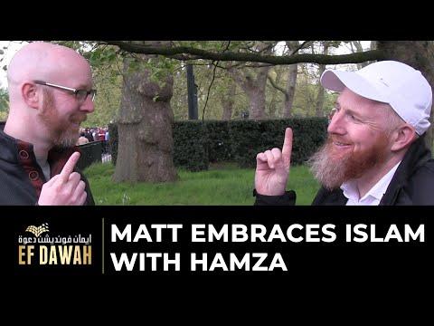 Matt Embraces Islam With Hamza