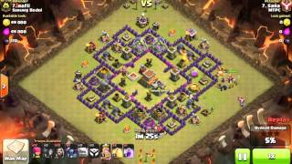 Clash of Clans Indonesia SARUNG BODOL (COC) - Attack Strategi TH8 with Wizard, Golem, PEKKA #91
