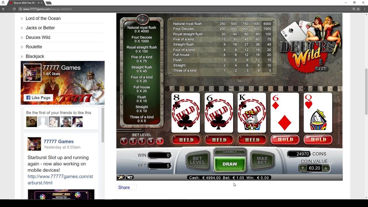 Deuces Wild Slot Machine Play For Free No Deposit Game Youtube