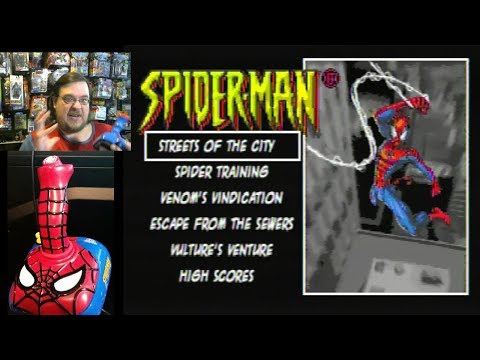 Spider-Man Plug & Play TV Games part 1 - Streets of the City game play