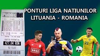 PARIURI Bilet Lituania - Romania / Liga Natiunilor  joi 11-10