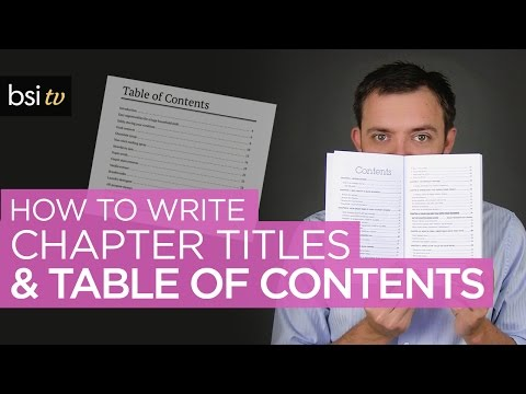 How to Write a Table of Contents that Grab ATTENTION! (for Your Book)