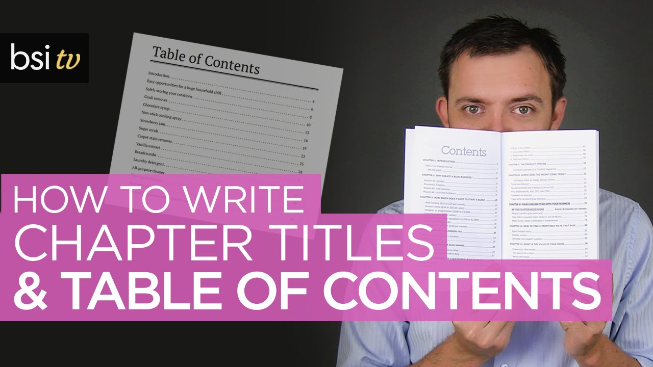 how to write a table of contents Table of contents reserve several front pages for contents by indicating their purpose at the top of the page do not leave completely blank pages in the front of the notebook, for future tables, since blank pages could also be used to add entries out of order.
