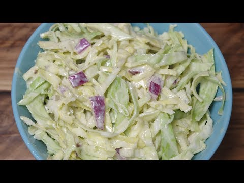 Blue Cheese & Red Onion Coleslaw - Recipe Video