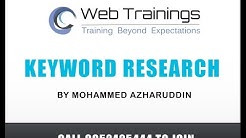 Digital Marketing Training - Keyword Research Basics (Part 4)