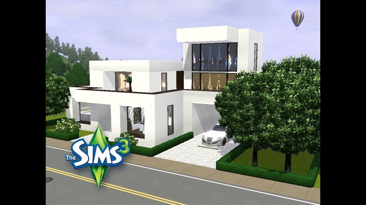 sims 3 haus bauen let 39 s build schickes familienhaus auf kleinem grundst ck youtube. Black Bedroom Furniture Sets. Home Design Ideas