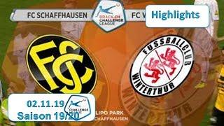 Highlights: Fc Schaffhausen Vs Fc Winterthur (02.11.19)