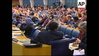 Controversial Zimbabwe president Mugabe addressing UN food summit
