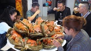 ChefChao steamed hairy crabs, with Cantonese salt-baked chicken, 9 dishes, cozy!
