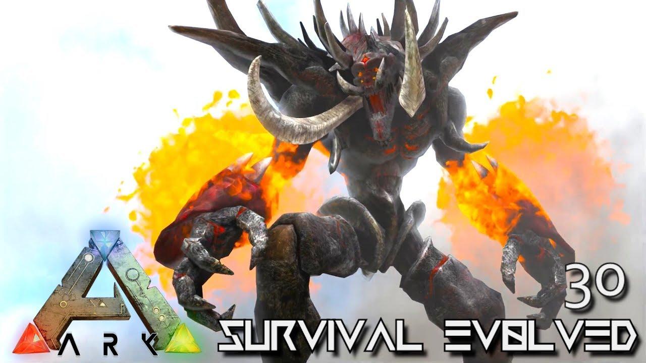 ARK: SURVIVAL EVOLVED - BALROG GIANT FIRE GOLEM MONSTER