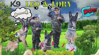 PLAYING WITH THE DOG | K9 TRAINING military dog | pretend play with DOG |  How to TRAIN A DOG