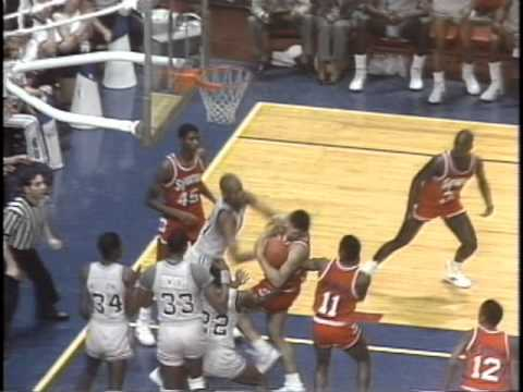 Georgetowns Michael Graham Throws Punch At Syracuse In 1984