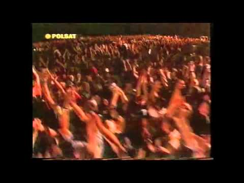 The Rolling Stones live concert in Chorzow, Poland, 14 August 1998