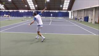 Tennis Practice - Training With World No5 Tommy Robredo - Court Level View